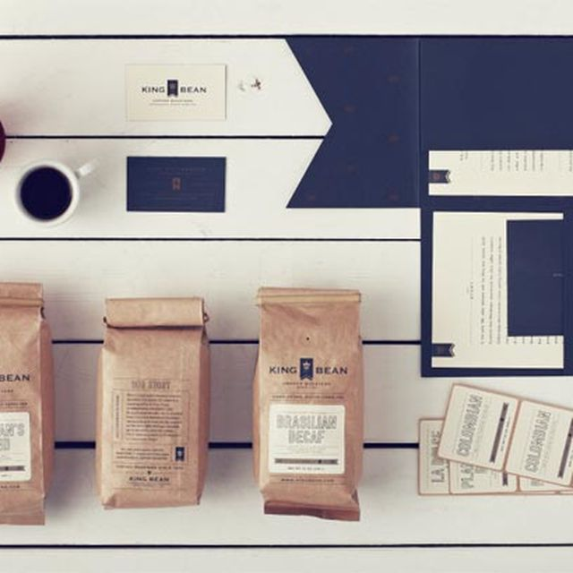 image: King Bean Brand Identity by Design Agency Stitch by pattercoolness
