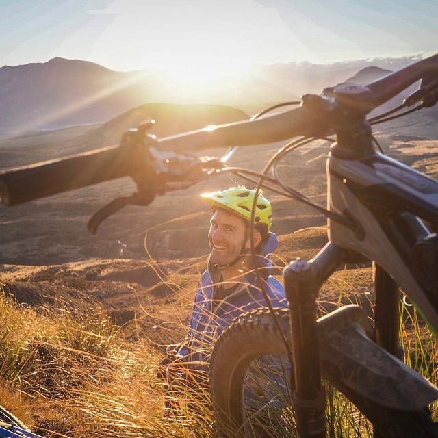 image: Never have I seen someone so stoked to have a puncture. Although it does help to be in one the best places in the world while fixing it. Thanks for sharing the stoke @richardgoldsbury by murraycharles