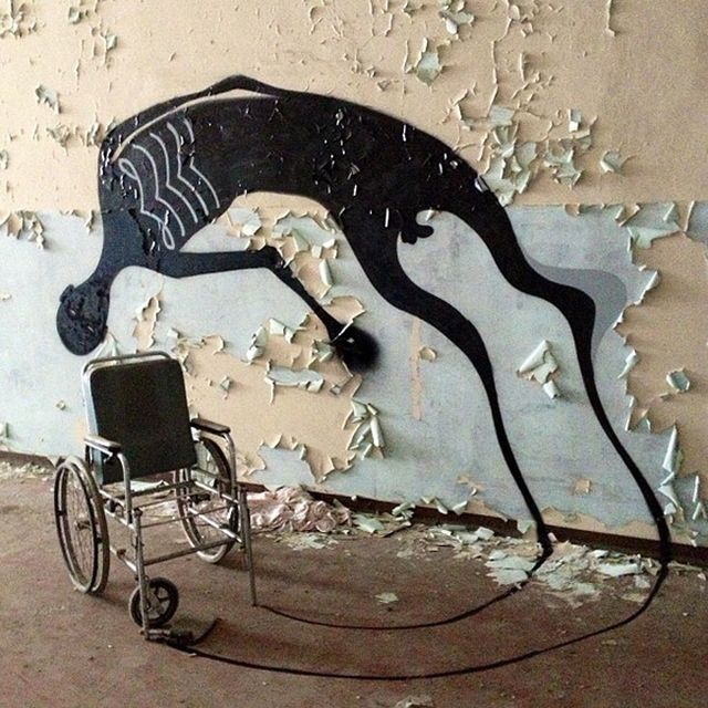 image: Herbert Baglione. Paintings of shadows. by dinacomm