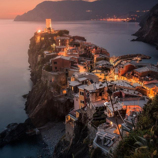 image: Sunset over Vernazza  by mindzeye