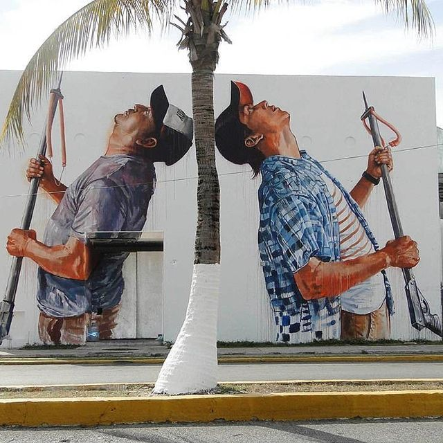 image: @fintan_magee wall in Cozumel, Mexico ??(2015)•#fintanmagee #urbanart #streetart #painting #streetartofficial #contemporaryart #cozumel #mexico by streetart_official