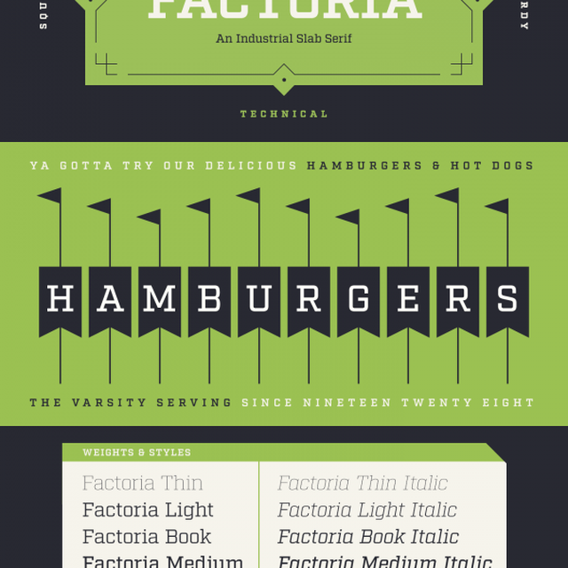 image: The Factoria Font Family by Mattox Shuler of Fort Fo... by tenderpudding