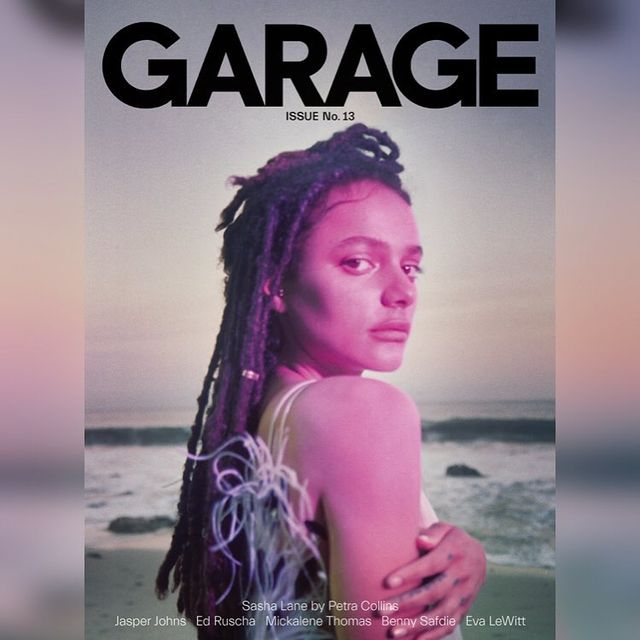 image: @sashablane for the cover of @garage_magazine 💕🌊💔 such a beautiful special person inside and out. was a pleasure working with you 🔥styled @gabriellak_j 🌟@samuelpaulmakeup @hairbygiocampora @lolaproduction by petrafcollins