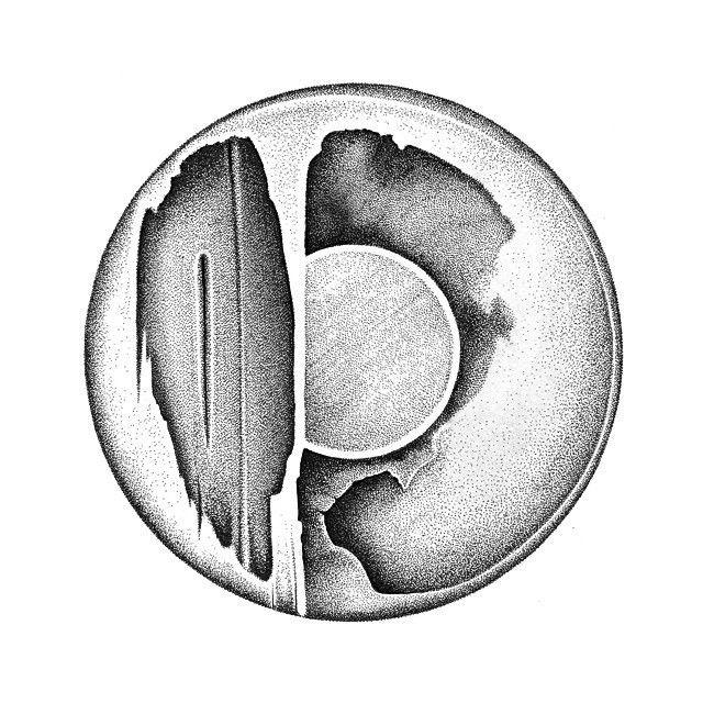 image: Obra de la serie rbitas. Plumilla, rotuladores y tin... by daniel_rod