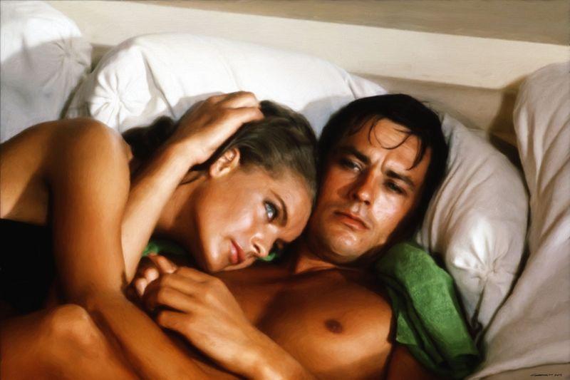 image: Romy Schneider and Alain Delon by gabrielttoro