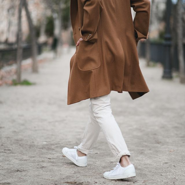 image: brown coat & white shoes by mordovas