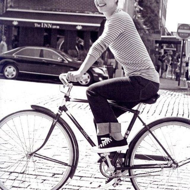 image: Natalie Portman riding bike by catsdontfly