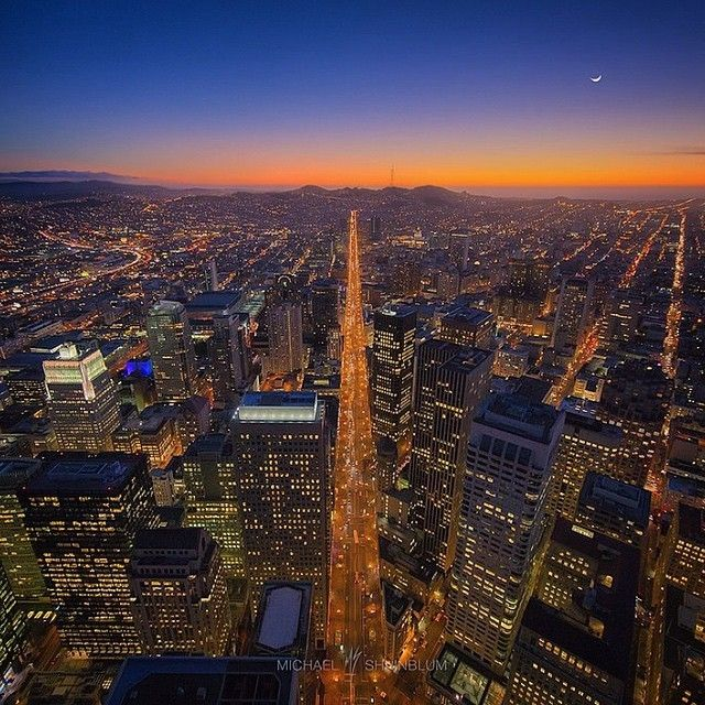image: Looking down Market Street from Above, #SanFrancisco... by michael_shainblum