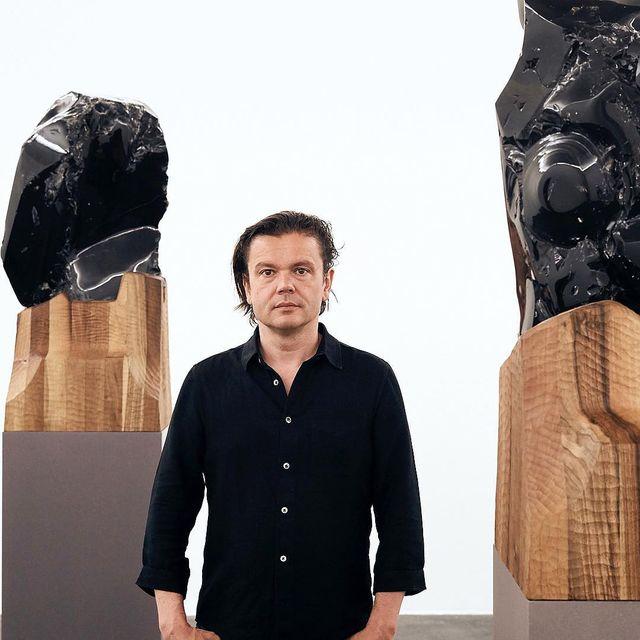 image: Invisibility Faces,...9 sculpted natural glass,obsidian stones, chestnut carved wood base. «Géométries Amoureuses»2 solo shows by Jean-Michel...At the CRAC in Sète and Carré Sainte-Anne of Montpellier.Until Sept 24,...#Othoniel #Géométrie by othonielstudio