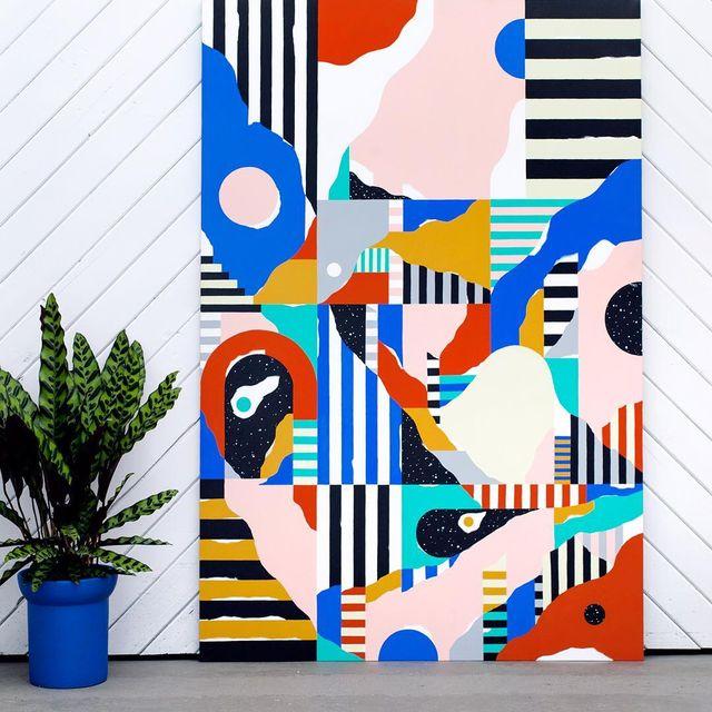 """image: Os dejo con uno de los laberintos que hago. Estoy viendo TwinPeaks y entiendo perfectamente el concepto """"en otra dimensión"""" nos vemos allí! -#Num103 #acryliconcanvas 110x165x3,5cm #mireiaysuscosas #mireiaruiz #cocolia #cocoliastudio #colormadefrombarcelon by mireiaysuscosas"""