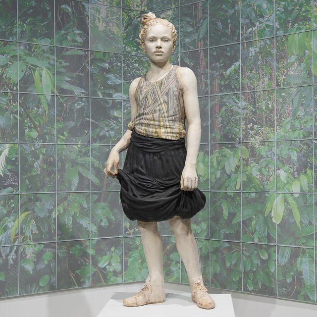 """image: """"Jungla"""" on view at the Alfred Ceramic Arts Museum through July #ceramicafigurativa #jungladepuertorico by cristinacordovastudio"""