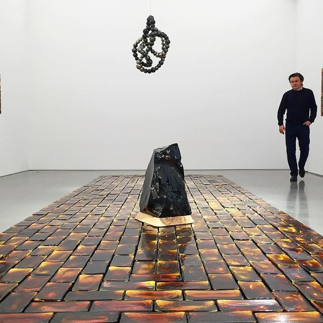 image: Jean-Michel Othoniel's solo show will open tomorrow at @galerieperrotin New York, 130 Orchard street, at 6pm. You are all welcome to join us!#othoniel #jeanmichelothoniel #perrotin #darkmatters #newyork #preciousstonewall #glass #bricks #sculpture #obsid by othonielstudio