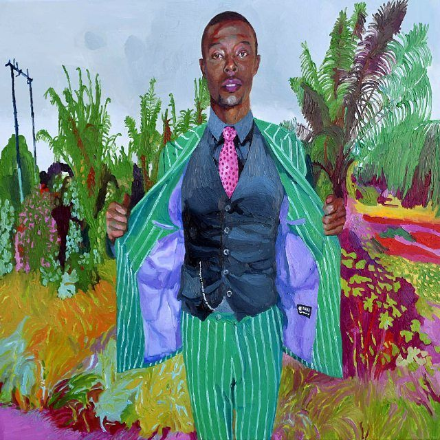 """image: """"Dandy11"""" #dandy #oilpainting #contemporaryart #africa #xevisola #artgallery #colorful by xevisola"""