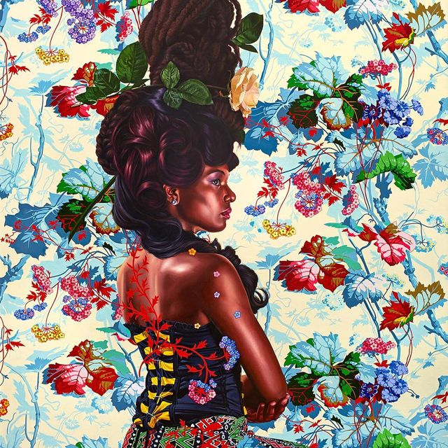 image: Portrait of Natasha Zamor by kehindewiley