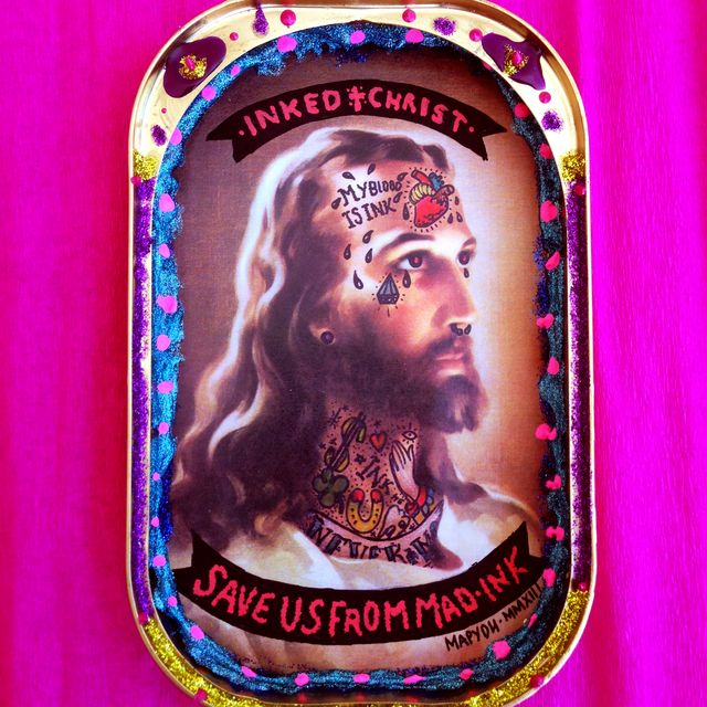 """image: """"INKED CHRIST · SAVE US FROM MAD INK"""" by MAPYDH by mapydh"""