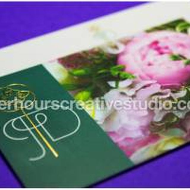 image: Gold Foil Business Cards | After Hours by hourscreative