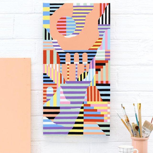 image: Landscape num.128#acrylicpainting #mireiaysuscosas39x78x3,5 cm -On sale shop.cocolia.cat-#cocoliastudio #cocolia #colormadefrombarcelona  #mireiaruiz by mireiaysuscosas