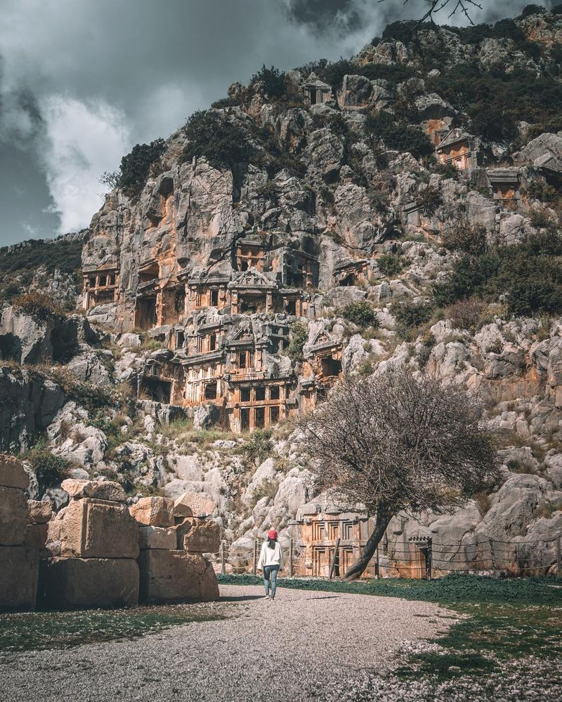 image: Have you been to an ancient Greek Town?We visited one of the most majestic ancient Greek Towns in Turkey, it's called Myra.It's located in Lycia, a couple hour drive from Antalya city.Can you believe that...Those are graves?They know how to build... by iwwm