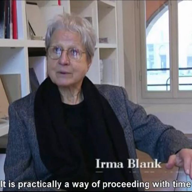 video: Irma Blank by noumenow