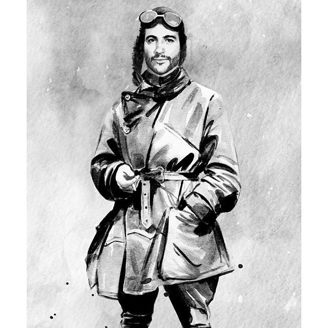 image: Vintage pilot #watercolor by chidywayne