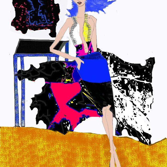 image: Ilustración Digital. Figurín de Moda by katherynberrios