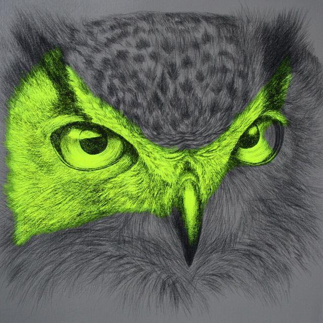 image: Fluorescent Mixed Media Animals - Louise McNaught by FERRANDIZ