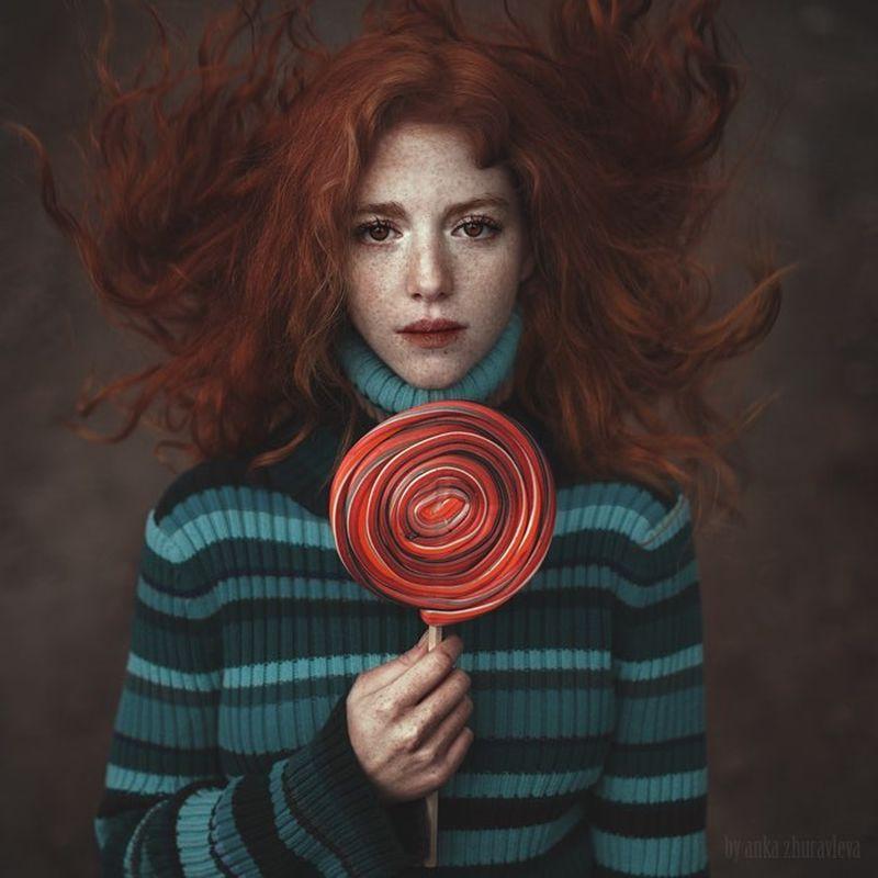 image: A girl with a...from...Model - @camilaveb by ankazhuravleva