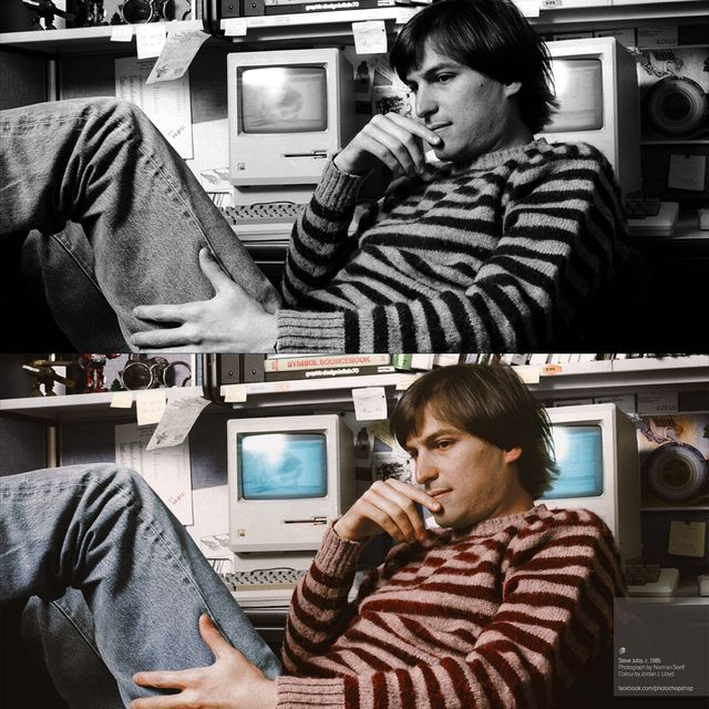 image: Colorized History: Steve Jobs, c.1985 by boton