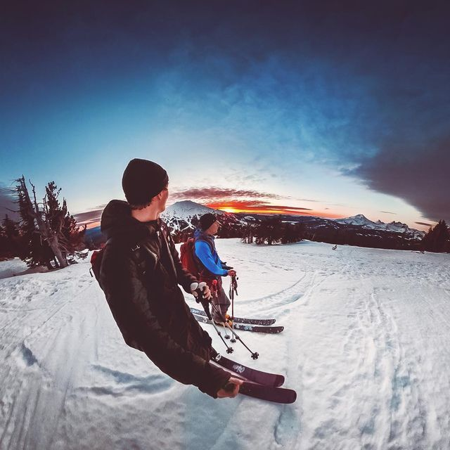 image: No complaints with this sunset view ???- #Oregon #Sunset #Skiing #GoProFusion by kyleohlson