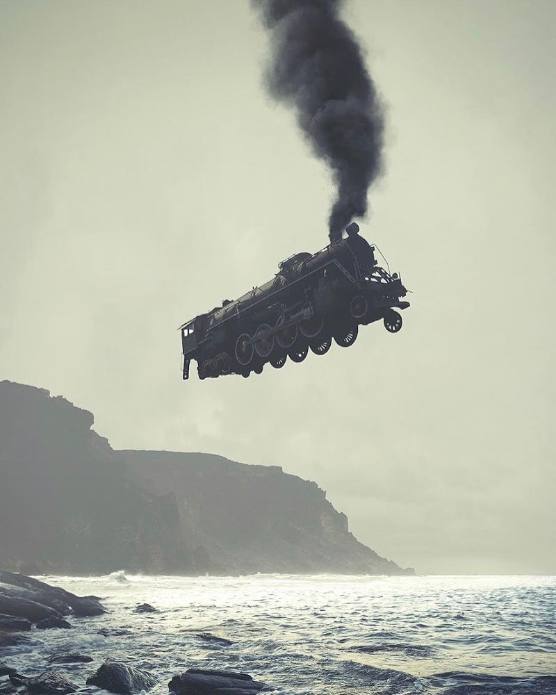 image: Dmitry Maksimov - Cliff Rail (photography/photomanipulation) #dmitrymaksimov by durmoosh