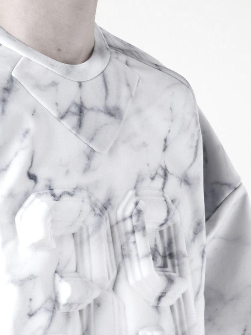 image: Juun.J S/S 2014 Neoprene Marbled Sweater by oculto