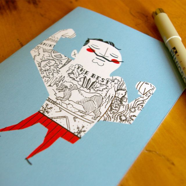image: TATTOO IT YOURSELF CARD - GENT - 5 PACK / The Neat Shop by 3punto1