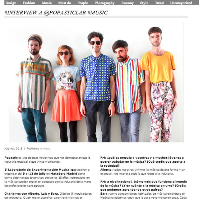 image: Entrevista en Rocket Magazine by popastic