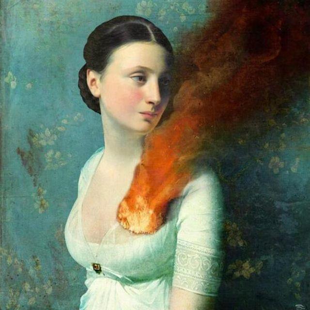 image: El corazón ardiendo. by is
