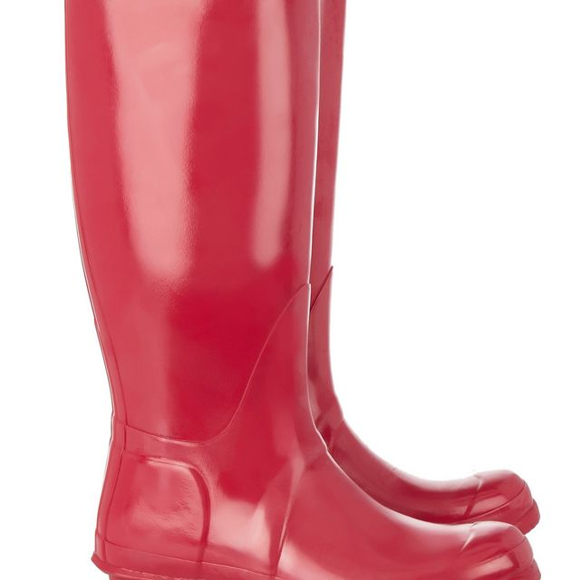 image: Pink Glossy HUNTER Boots by xerryberry