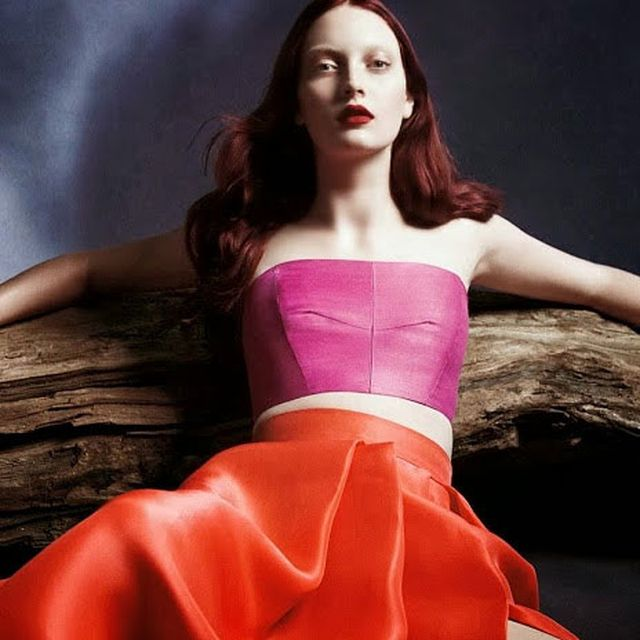 image: Codie Young for Monique Lhuillier Spring 2014 Campaign by fashionnet