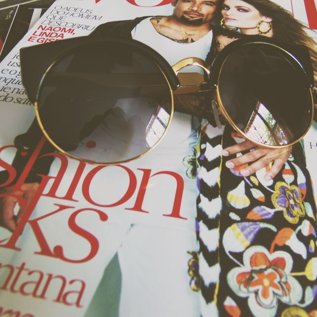 image: Round sunglasses and Vogue by joy