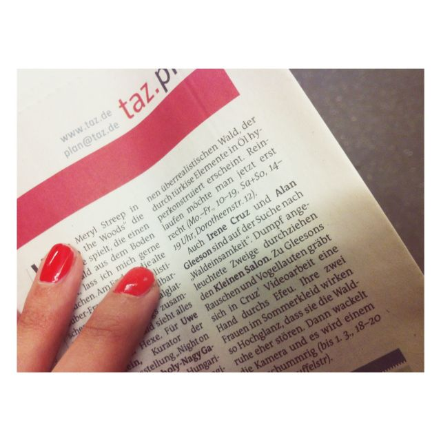 image: Tageszeitung - Irene Cruz by irenecruz
