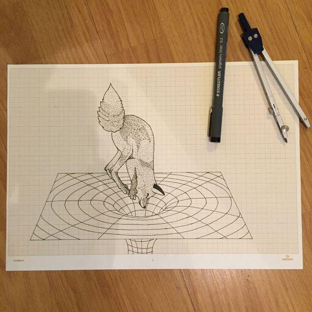 image: Fox & Black Hole by vektorama