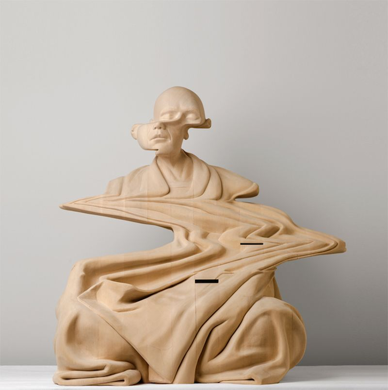 image: New Wooden Sculptures by Paul Kaptein by impossiblemustard
