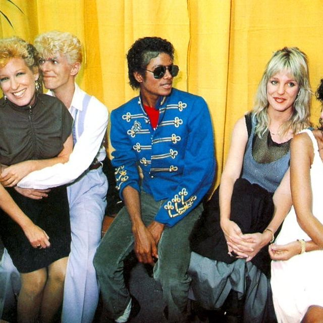 image: Bette Midler, David Bowie, Michael Jackson and Cher by danielgc