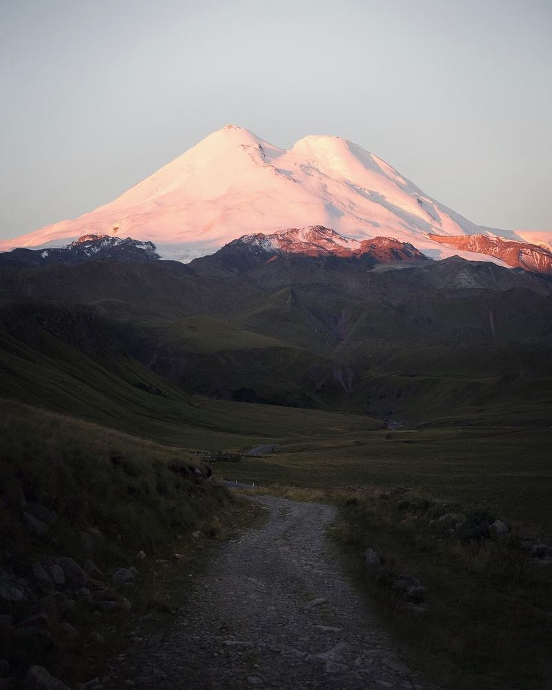 image: The rising sun touching Europes tallest peak, Mt.... by josiahwg