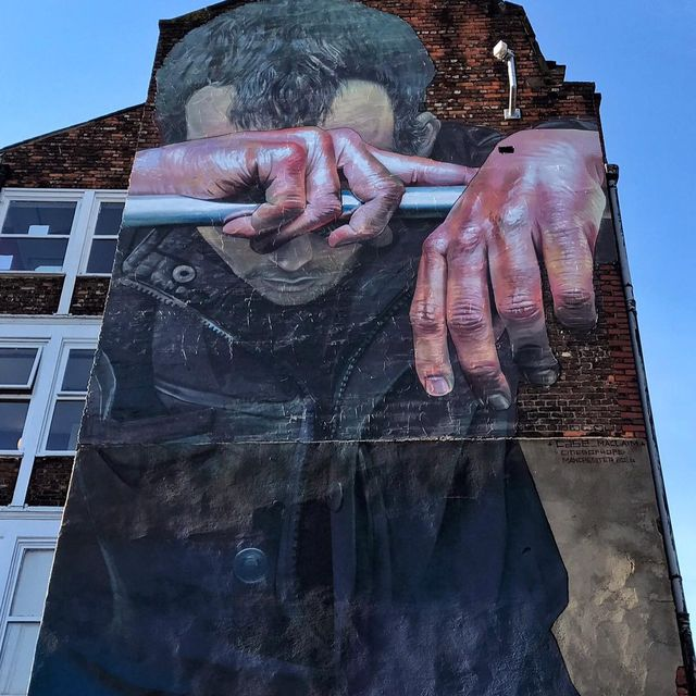 image: @case_maclaim wall 4 @citiesofhope in Manchester, U.K. ?? (2016)•#casemaclaim #urbanart #streetart #painting #streetartofficial #contemporaryart #manchester by streetart_official