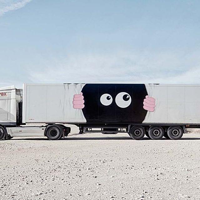 image: @javicalleja truck for @truckartproject in Madrid, Spain??(2017)•#javicalleja #urbanart #streetart #painting #streetartofficial #contemporaryart #truckartproject #madrid #spain by streetart_official