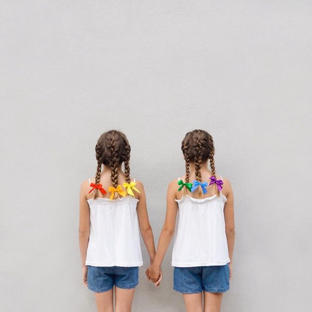 image: #WHP🌈Show the little ones that LOVE knows no gender, race or age. Show them that we are all equal, we're humans and If we walk together we can make the World a happier place to be, don't you think? PS. You're not seeing double, my nieces are home! Who... by annadevis