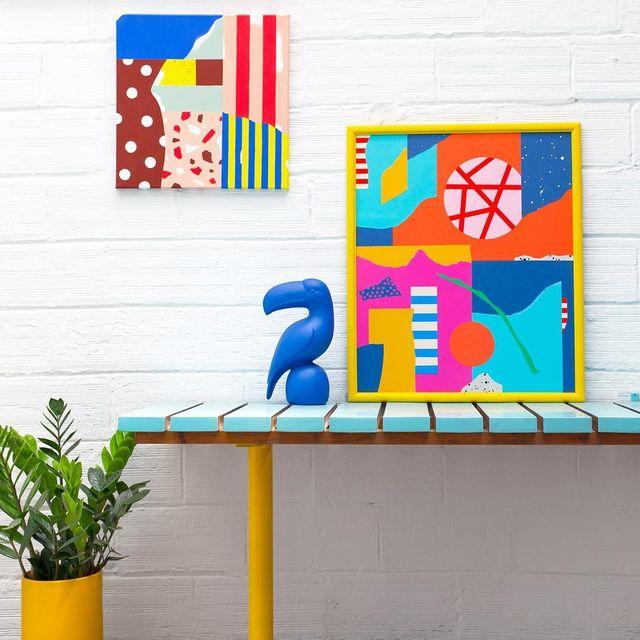 image: Hace un año que empezamos las obras en el nuevo estudio @cocolia Estoy muy contenta de llenarlo de cosas ? #mireiaysuscosas -#colormadefrombarcelona #cocolia #cocoliastudio #painting #deco #barcelona #mireiaruiz by mireiaysuscosas