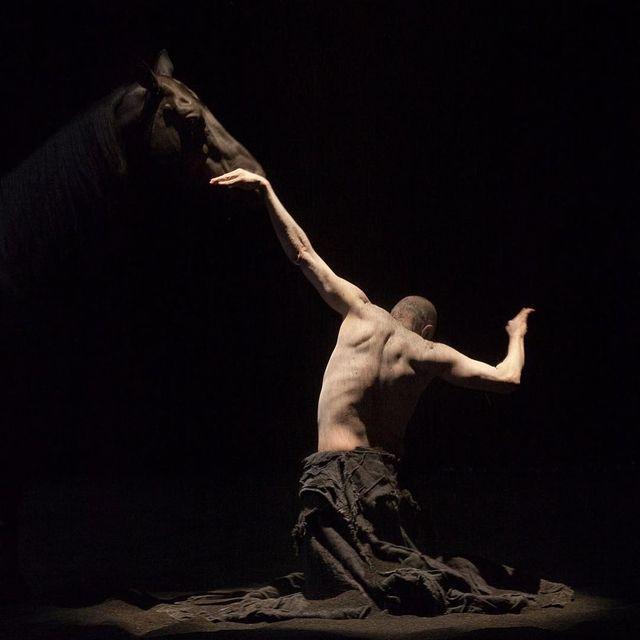 "image: Clément Marty aka Bartabas and Ko Murobushi - Le Centaure et L'Animal (dance choreography) [inspired by Lautréamont's ""Les Chants de Maldoror""] photo: Nabil Boutros #clementmarty #bartabas #nabilboutros by durmoosh"