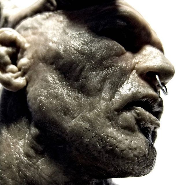 "image: Chuck Tam @ballistyc - Minotauro (Super Sculpey) 5 inches [detail]  #chucktam [Modern interpretation of the Minotaur with Brazilian mixed martial arts legend Antonio Rodrigo Nogueira, his nickname is ""Minotauro"".] #antoniorodrigonogueira by durmoosh"