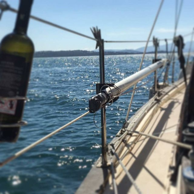 image: Sailing... wind, wine and sparkling sun ⛵️..? by @sailingtheislandgirl by sailing_boats