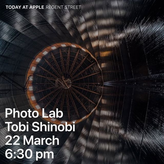 image: Just touched down in London Town.  Come hangout with me on Thursday 22nd March at Apple Regent Street at 6:30 pm where I'll be giving a talk as part of my Photo Lab: Architectural Perspective with Tobi Shinobi #TodayatApple - Link in the... by tobishinobi
